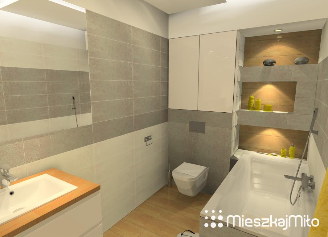 łazienka Biało Szara Mieszkaj Miło Aranżacja Wnętrz Na Twoje