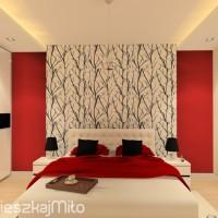 ściana za łóżkiem w sypialni
