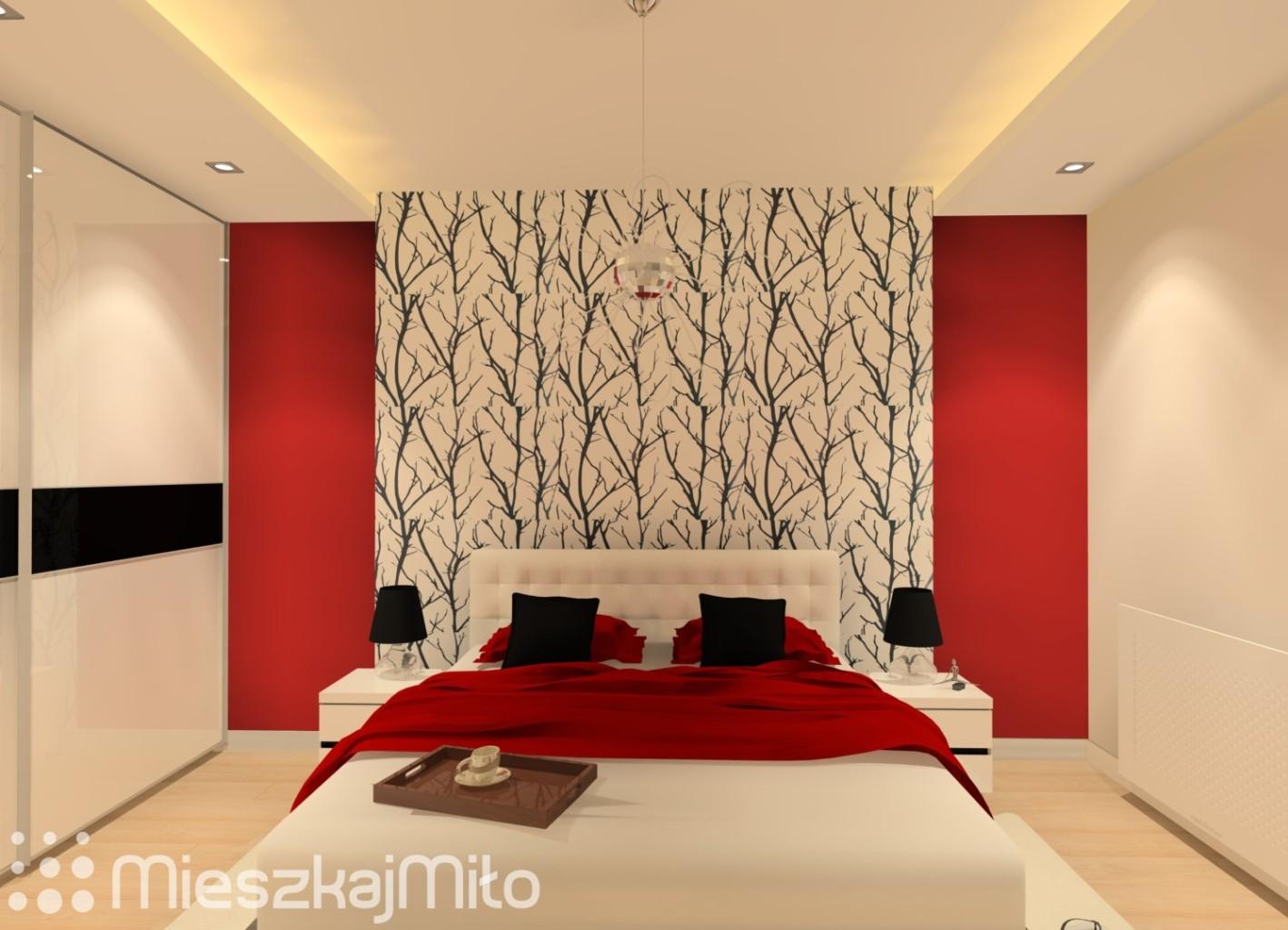 ściana Za łóżkiem W Sypialni Mieszkaj Miło Aranżacja