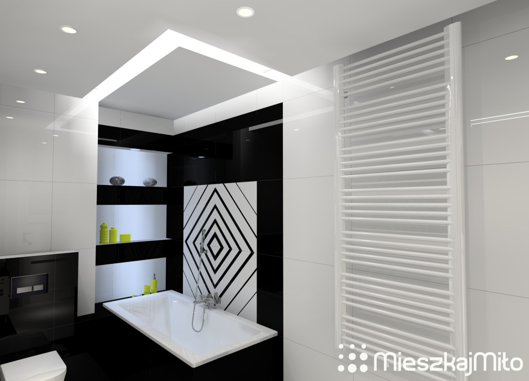 Projekt łazienki 65m² W Dwóch Odsłonach Mieszkaj Miło