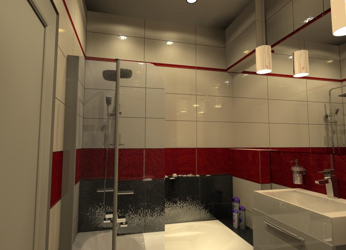 łazienka Biało Czerwona Mieszkaj Miło Aranżacja Wnętrz