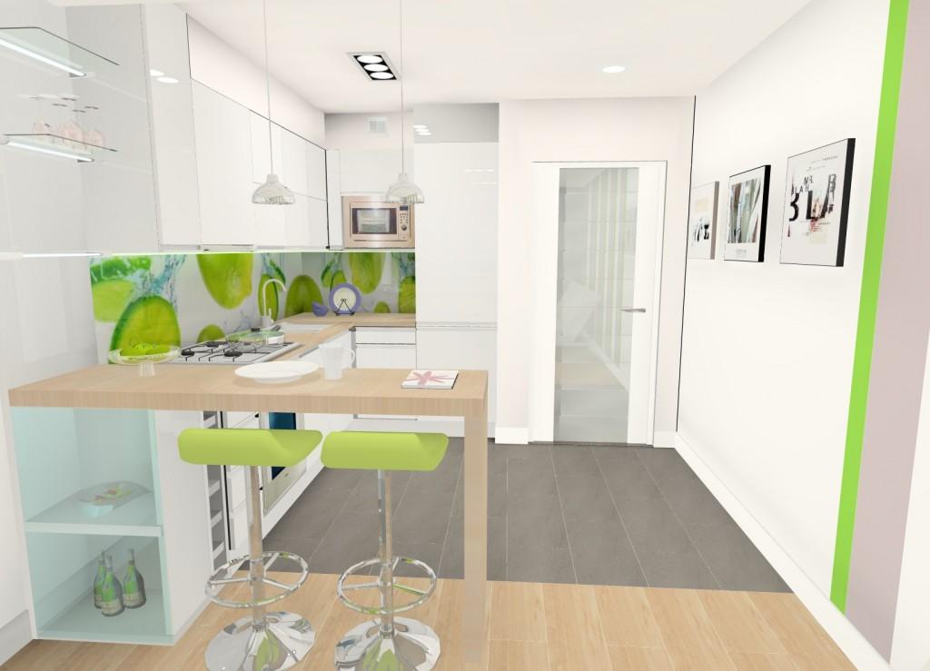 Projekt Małego Salonu Z Aneksem Kuchennym 182m² Sosnowiec