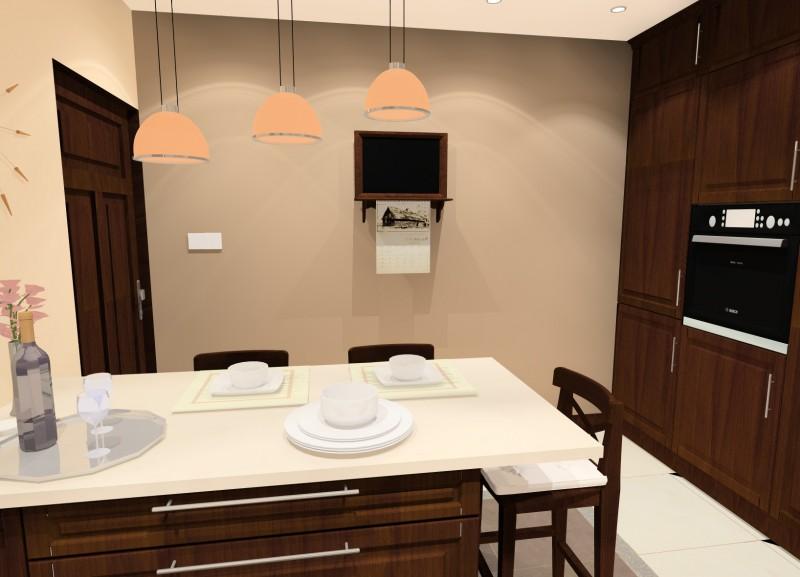 Aranżacja wnętrz blog  MieszkajMiło  -> Kuchnia Brązowe Meble Jaki Kolor Ścian