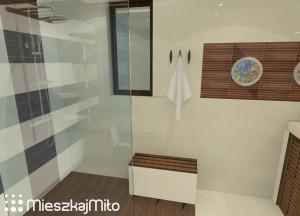 łazienka w brązach