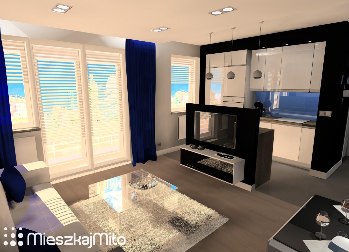 Aranżacja wnętrz blog  MieszkajMiło 3 -> Kuchnia Otwarta Na Salon W Mieszkaniu