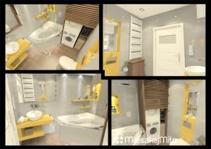 Zabudowa pralki i suszarki w łazience