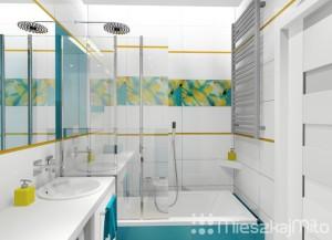 Kolorowe dodatki w łazience