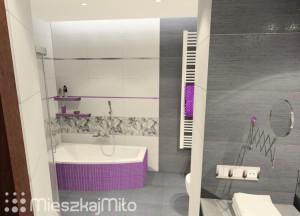 wanna asymetryczna w łazience