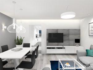 panele betonowe w salonie