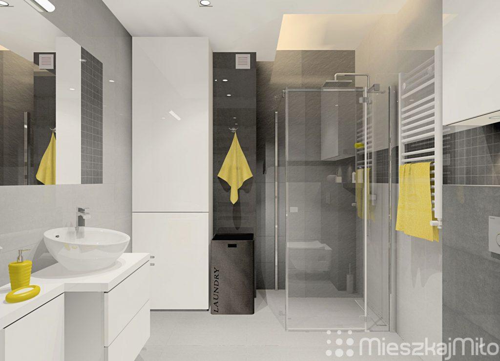 projekt wnętrza mieszkania 46m178 � czeladź � mieszkaj mi�o