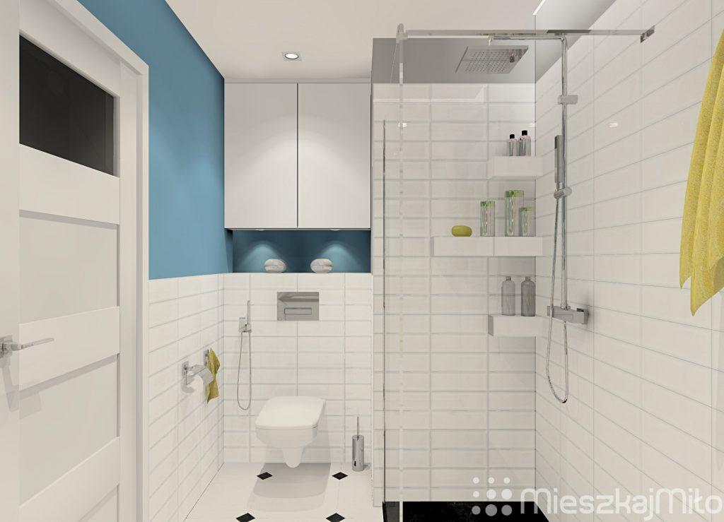 Jedna łazienka zrobiona z dwóch