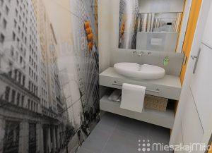 Panel szklany w łazience