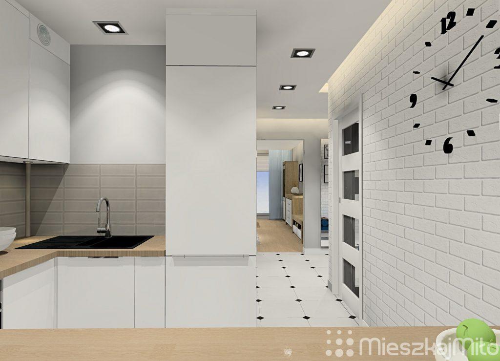 Otwarta kuchnia w bloku