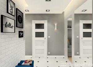Białe drzwi w mieszkaniu