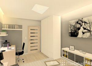 biuro w sypialni
