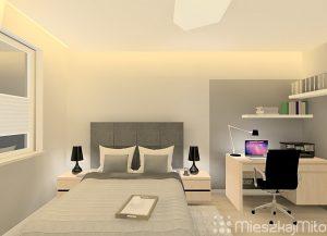 zagłówek modułowy nad łóżkiem