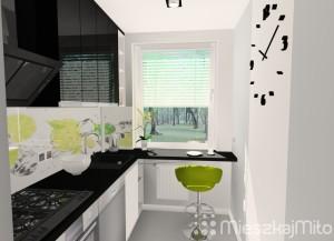 kolor zielony w kuchni