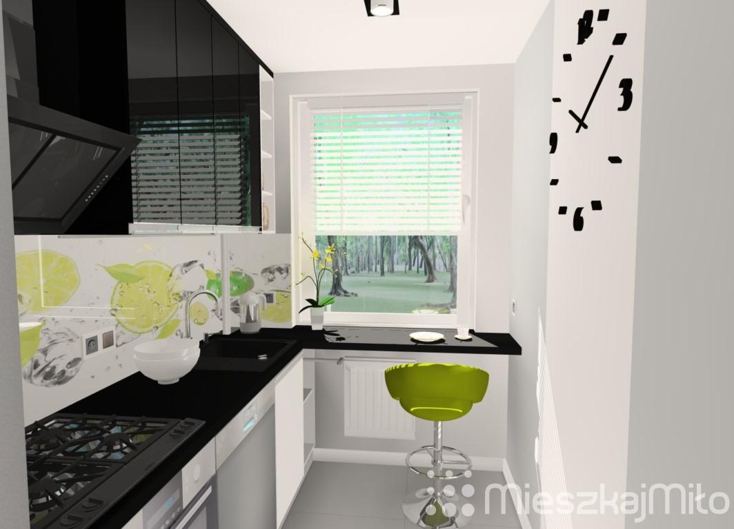 Projekt wnętrza mieszkania w bloku z wielkiej płyty – Częstochowa – Mieszkaj   -> Aranżacje Kuchni W Bloku Zdjecia
