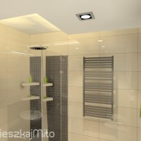 oświetlenie sufitu w łazience
