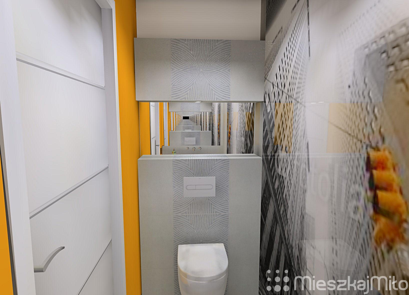 Mała łazienka Wc Mieszkaj Miło Aranżacja Wnętrz Na