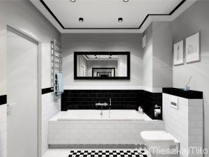 Pomalowane ściany w łazience