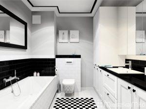 Dekoracja sufitu w łazience