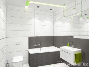 Zielone dodatki w łazience