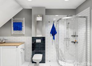prysznic w łazience