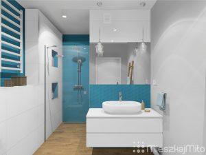 biało niebieska łazienka