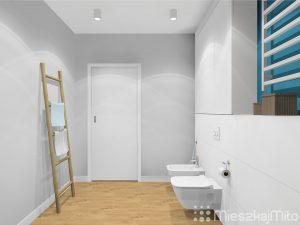 pomalowana ściana w łazience