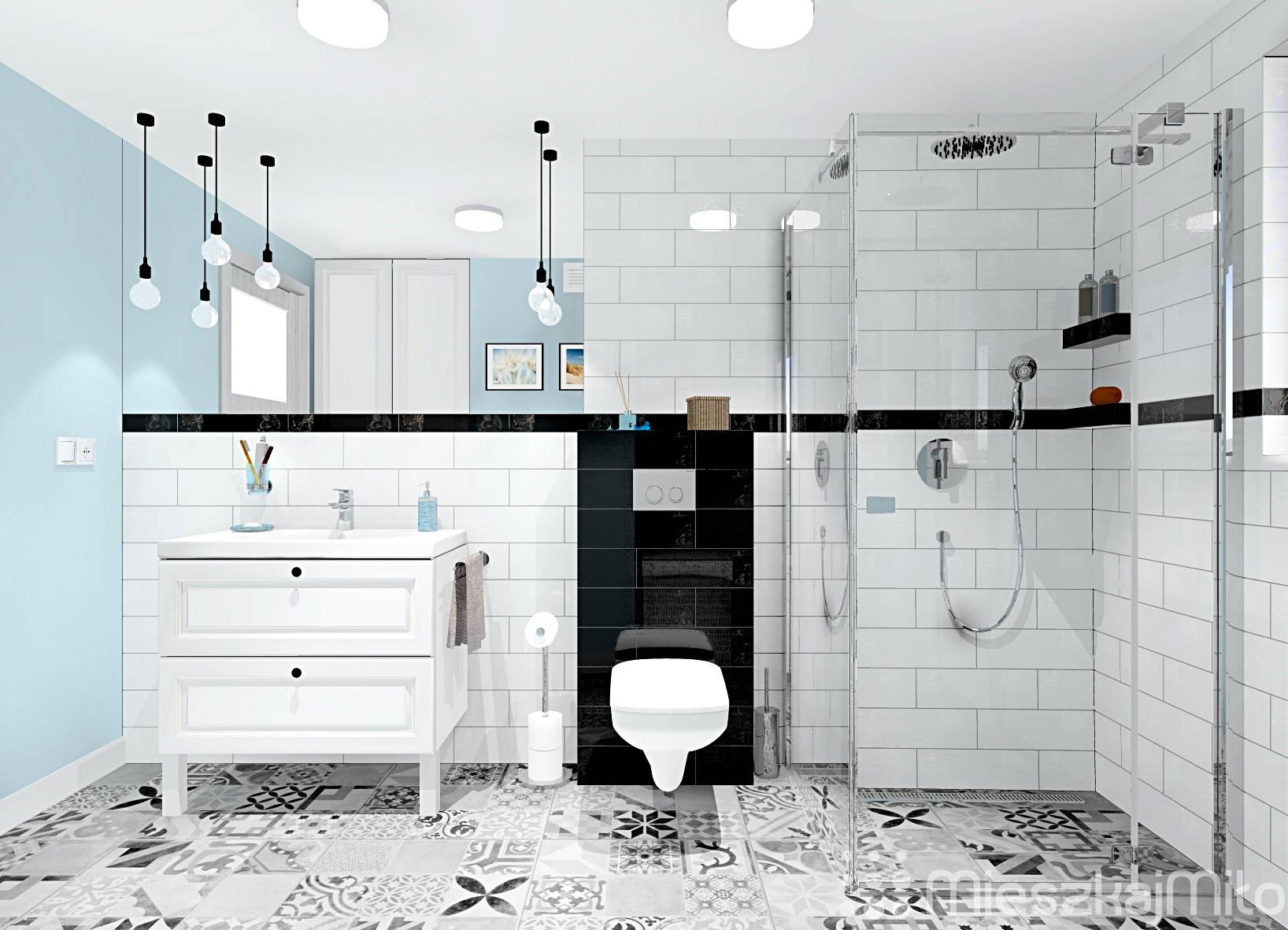 Aranżacja łazienki Z Prysznicem Mieszkaj Miło Aranżacja Wnętrz