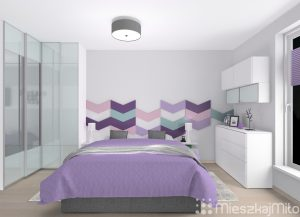 wąska sypialnia