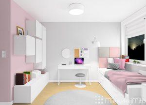 oświetlenie biurka i łóżka