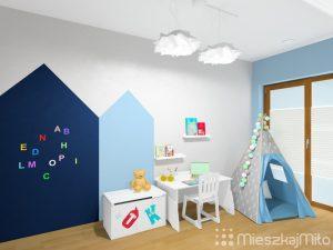 farba tablicowa i magnetyczna w pokoju dziecka
