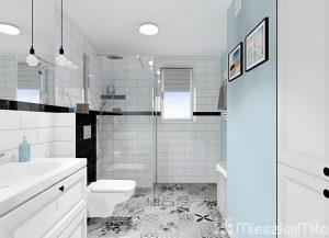 niebieski kolor w łazience