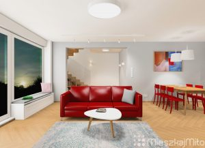 czerwona sofa