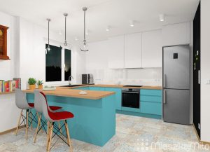 niebieskie meble kuchenne