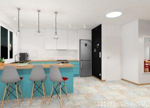 ściana magnetyczna w kuchni