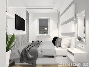 szaro biała sypialnia