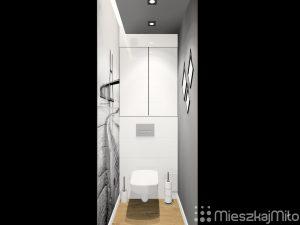 szary sufit w łazience