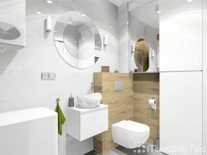 okrągłe lustro w łazience
