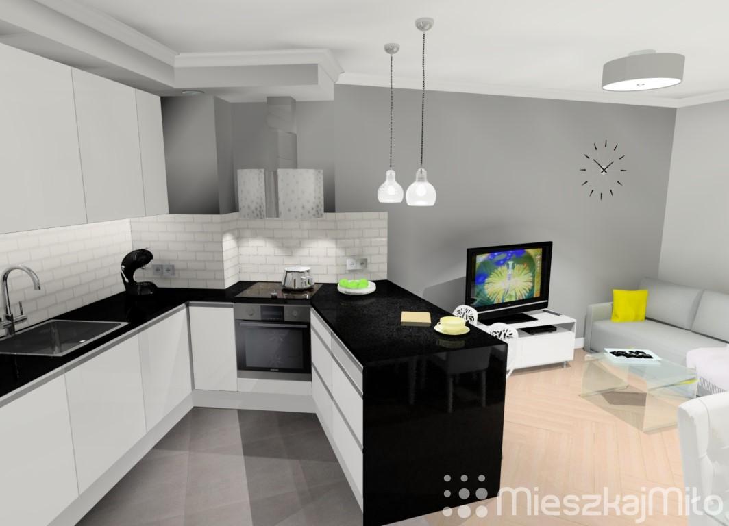 Kuchnia Otwarta Na Salon Mieszkaj Miło Aranżacja Wnętrz