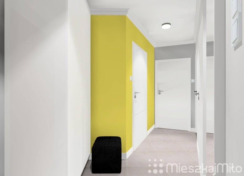 żółty kolor ścian