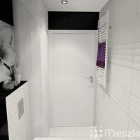 aranżacja łazienki biało czarnej