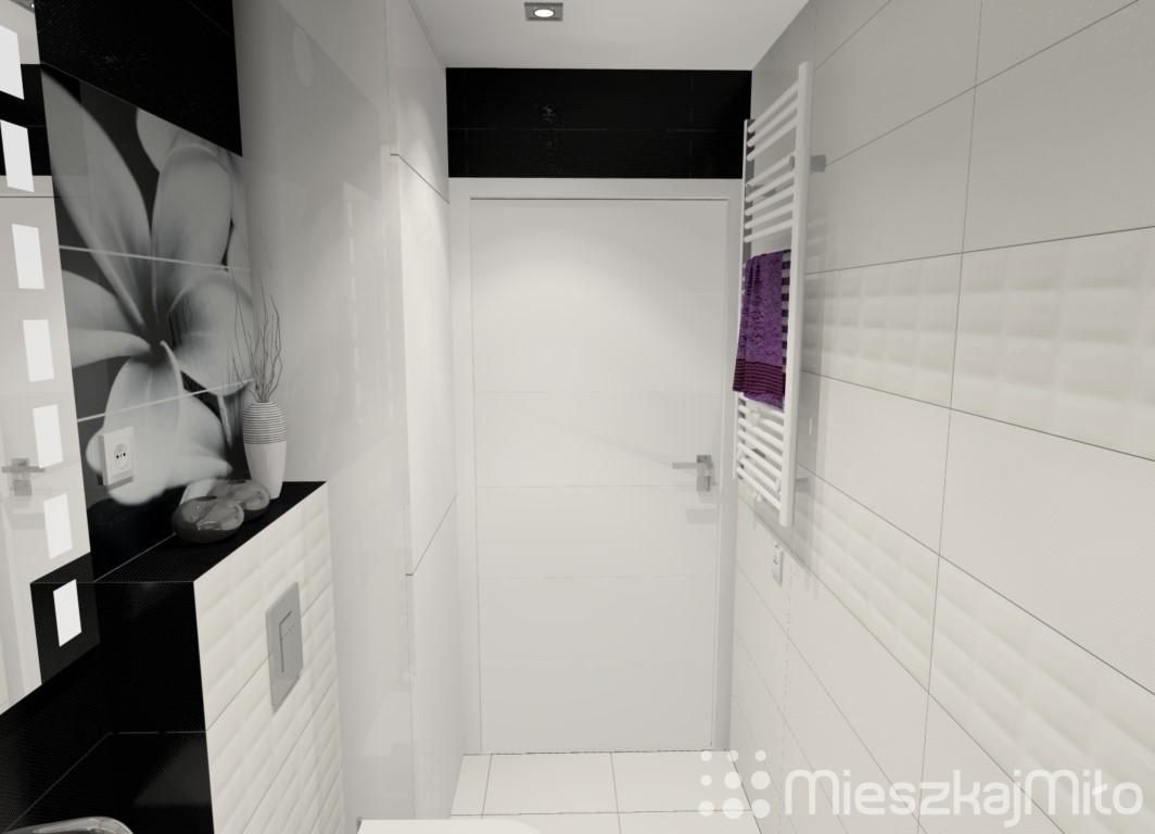 Aranżacja łazienki Biało Czarnej Mieszkaj Miło Aranżacja Wnętrz