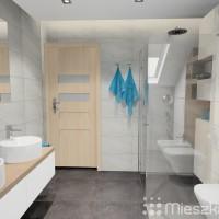łazienka w odcieniach szarości