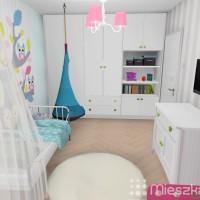 zabudowa meblowa w pokoju dziecka