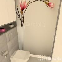 fototapeta w małej łazience