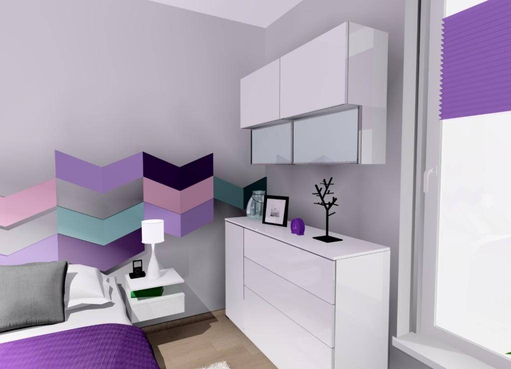 Białe meble w sypialni