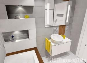 Szare płytki w łazience